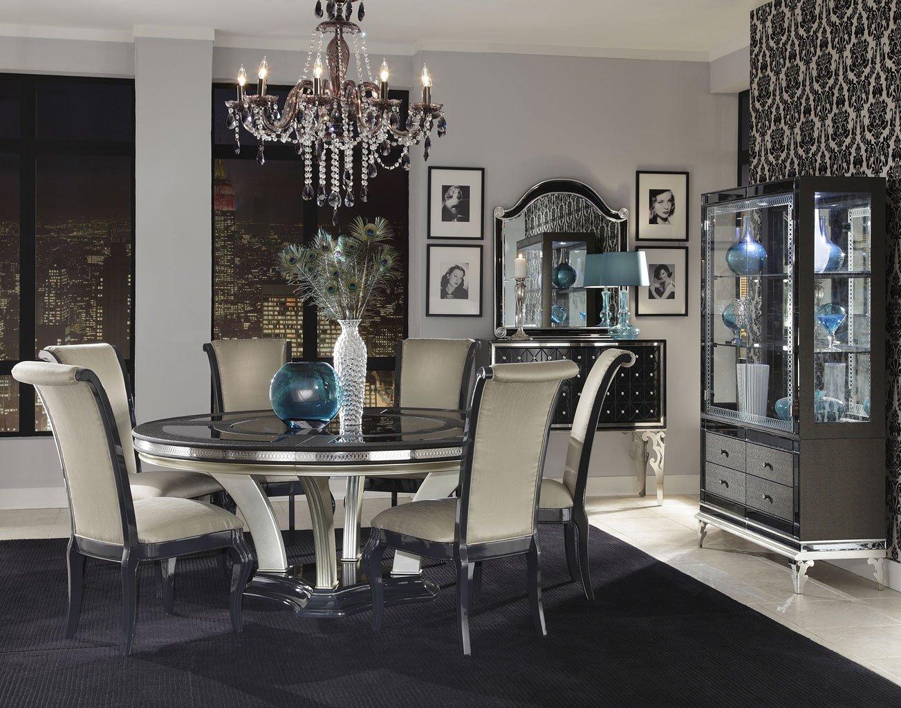 Beau Hollywood Swank Round Dining Room Set
