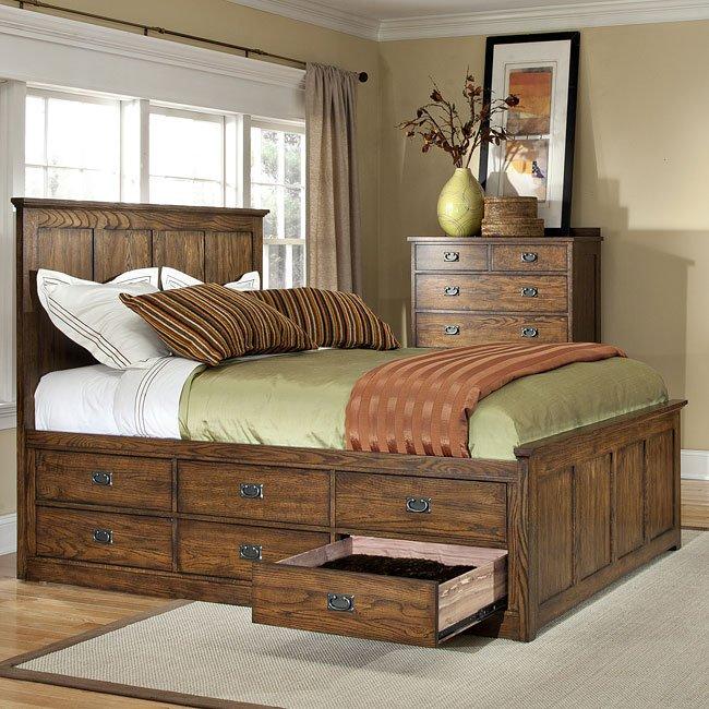 Oak Park 12 Drawer Storage Bed