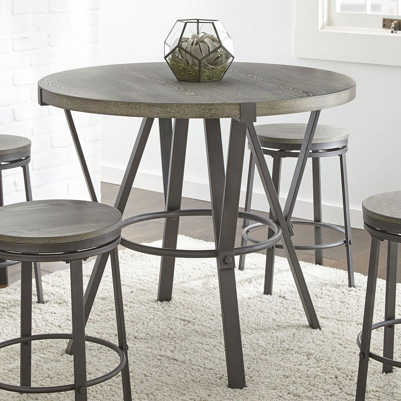 Portland Round Counter Height Table Steve Silver Furniture Cart