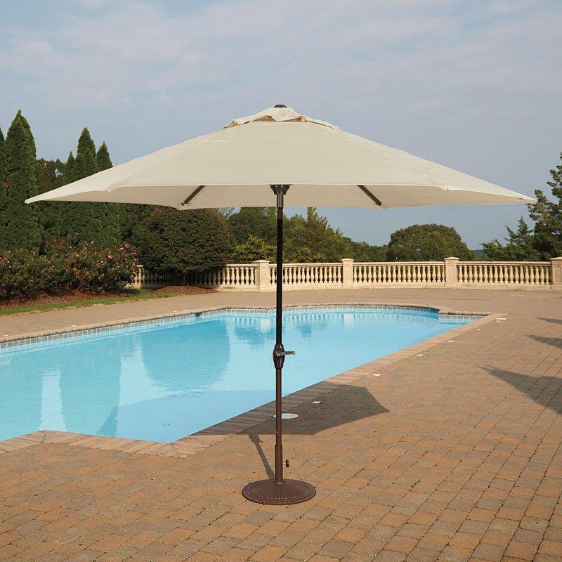 Medium Auto Tilt Outdoor Umbrella (Beige)