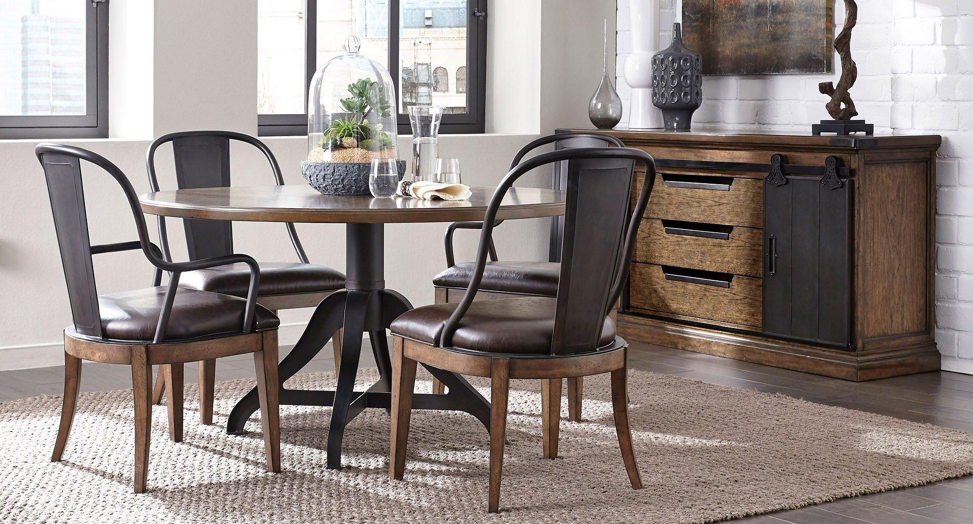 Weston Loft Round Dining Room Set
