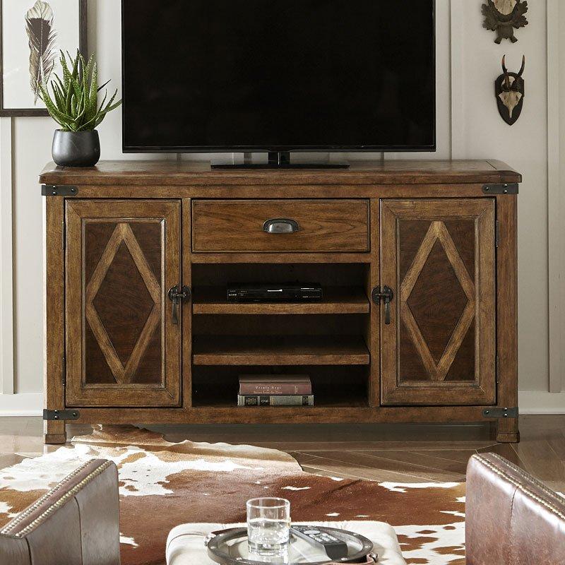 Heartland Falls Media Console Pulaski Furniture Furniture Cart