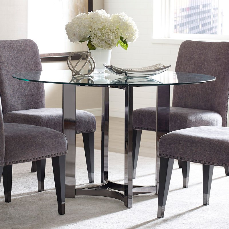 Silverton Sound Round Dining Room Set Pulaski Furniture