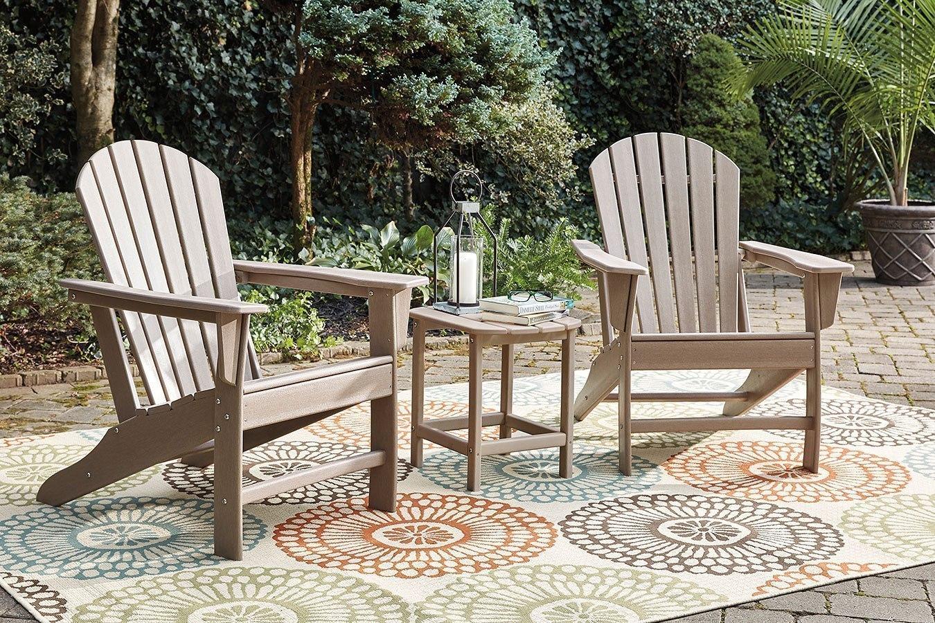Sundown treasure outdoor seating set grayish brown signature design furniture cart