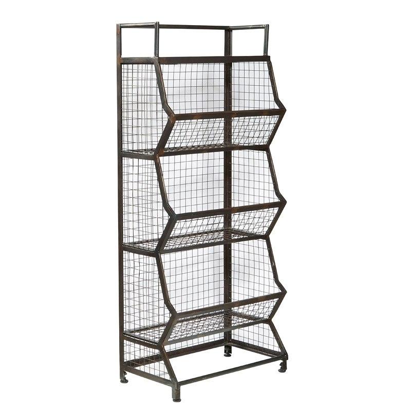 Clendon Metal Bin Etagere Pulaski Furniture Furniture Cart