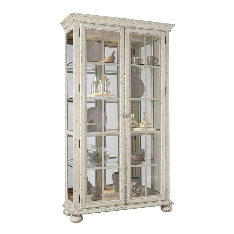 Distressed Antique White Curio - Distressed Antique White Curio Pulaski Furniture Furniture Cart