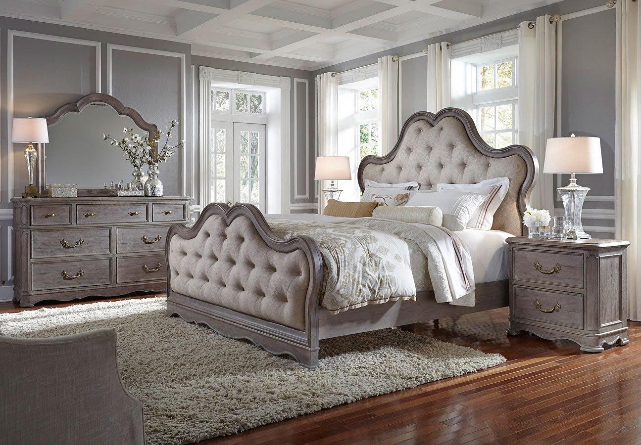 Simply Charming Upholstered Bedroom Set Pulaski Furniture ...