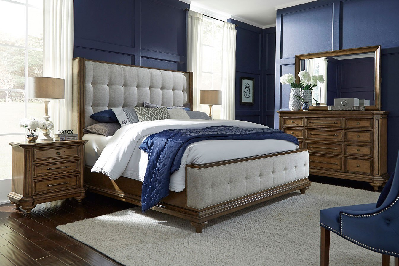 Carrington Upholstered Bedroom Set Pulaski Furniture