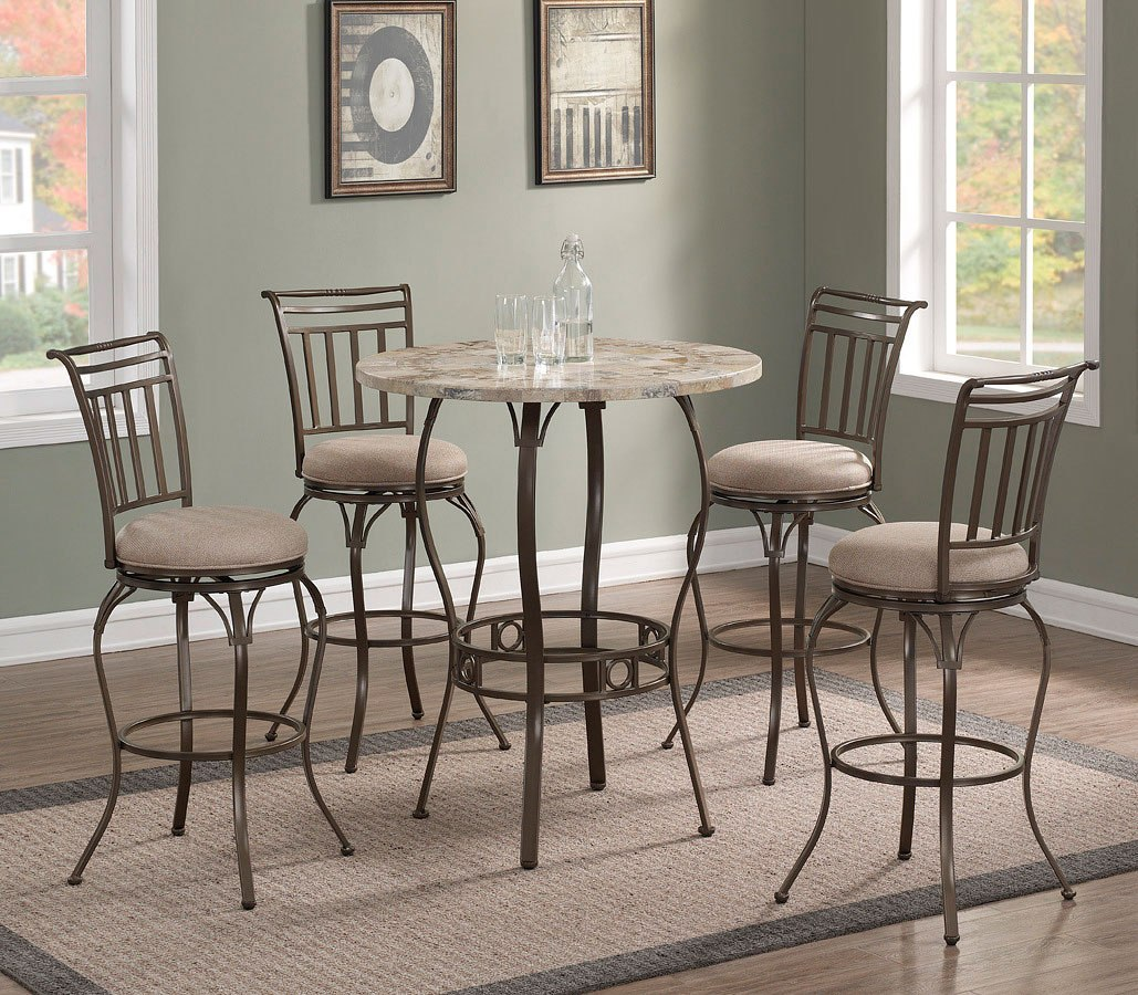 Marble Top Pub Table Set