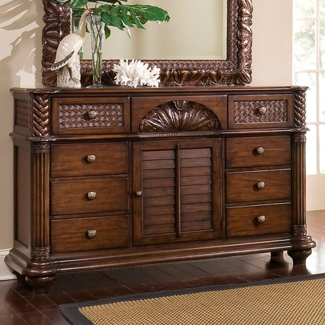 Palm Court Triple Dresser (Coco Brown)