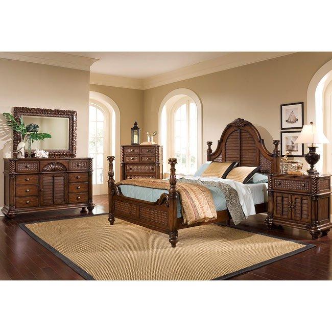 Palm Court Low Post Bedroom Set Coco Brown Progressive