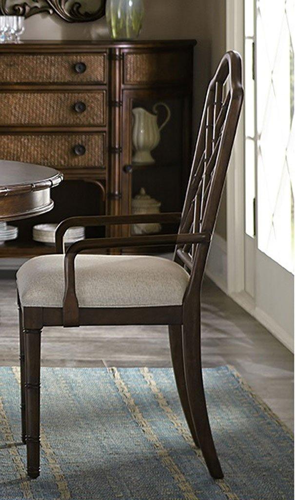 Emporium Bamboo Arm Chair (Mahogany) (Set Of 2)