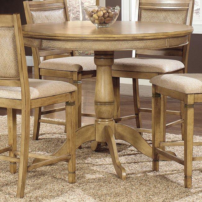 Kingston Isle Counter Height Dining Room Set Pine