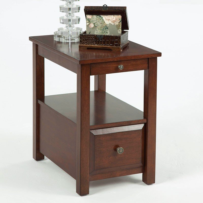 Chairside Table W Pull Out Tray And Drawer Progressive