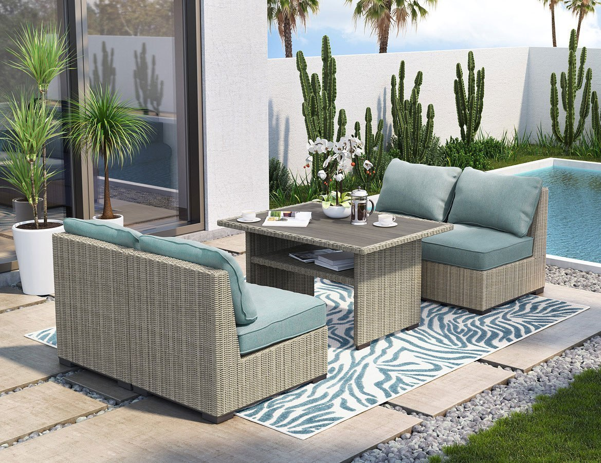 Silent Brook Outdoor Dining Set w/ Armless Chairs