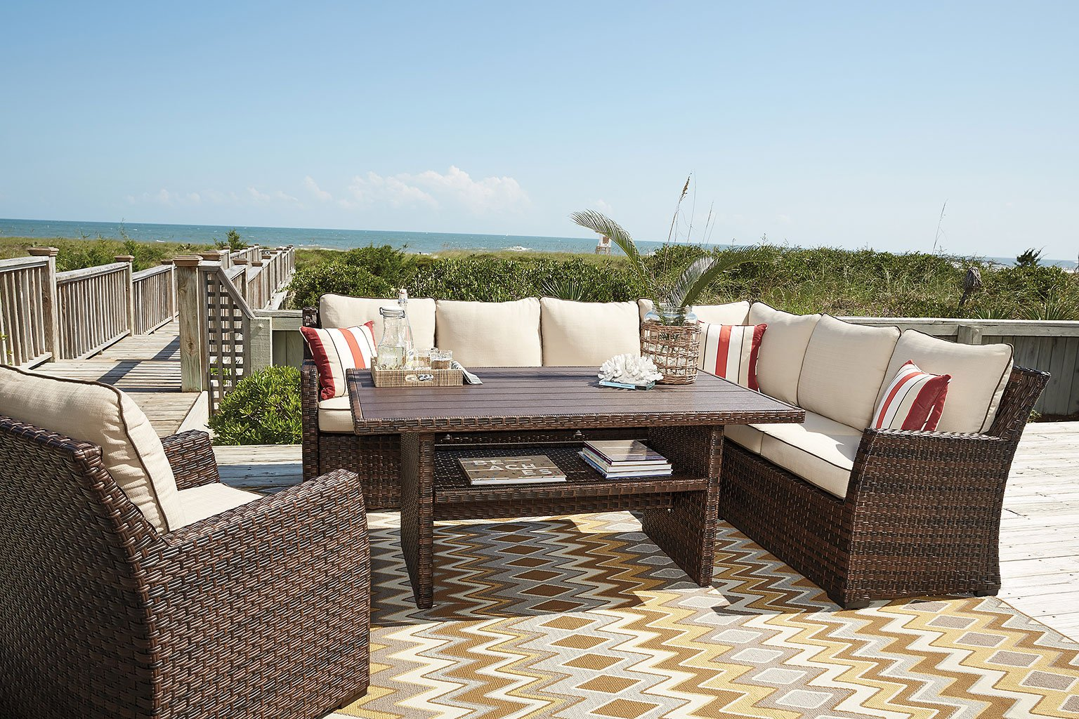 Salceda Outdoor Sectional Set