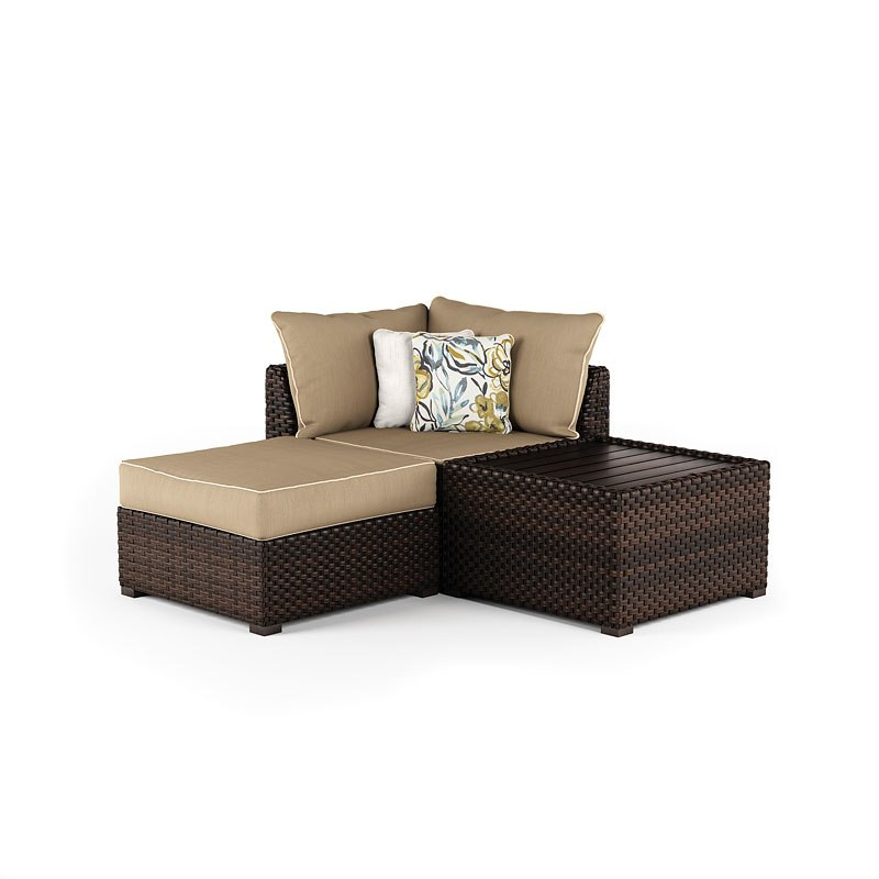 corner seating furniture. Wonderful Seating Spring Ridge Outdoor Corner Seat W Table And Ottoman Intended Seating Furniture