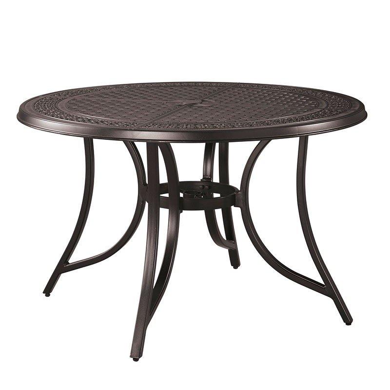 Burnella Round Outdoor Dining Table w/ Umbrella Option