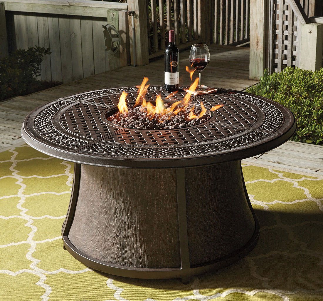 Burnella Round Fire Pit Table