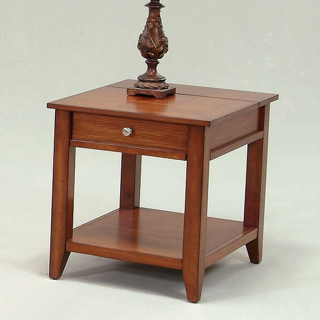 Coral Gables End Table W Power Strip Progressive