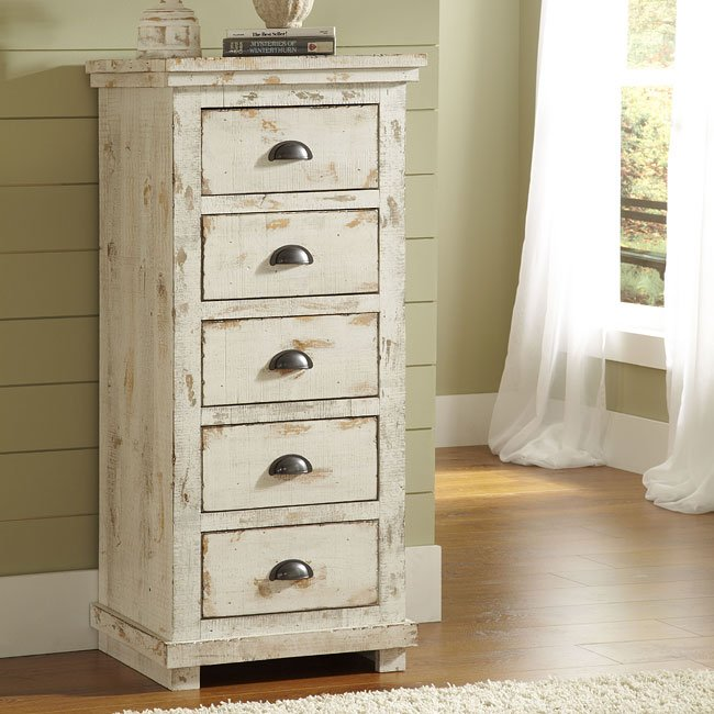 Willow Lingerie Chest (Distressed White)