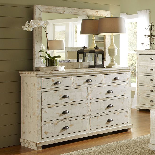 Willow Slat Bedroom Set Distressed White Progressive Furniture 9 Reviews Furniture Cart
