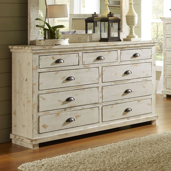 Willow Drawer Dresser Distressed White Progressive Furniture 10 Reviews Cart