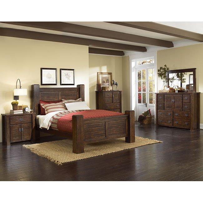 Trestlewood Poster Bedroom Set