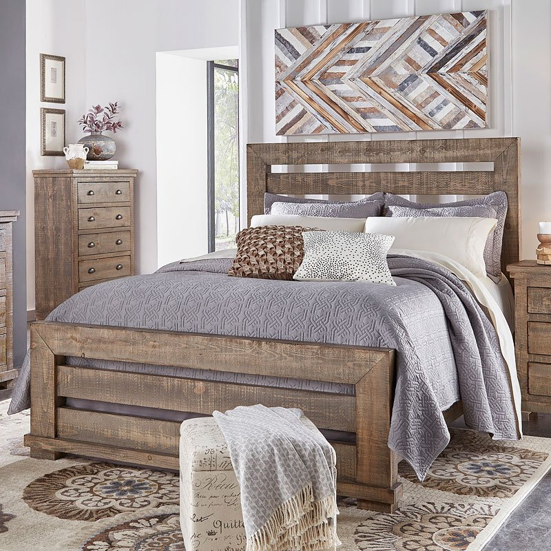 Willow Slat Bed (Weathered Grey)