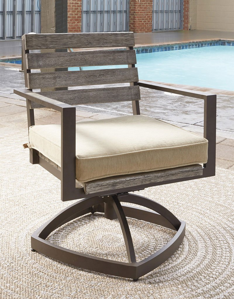 Peachstone Outdoor Swivel Chair (Set of 2)