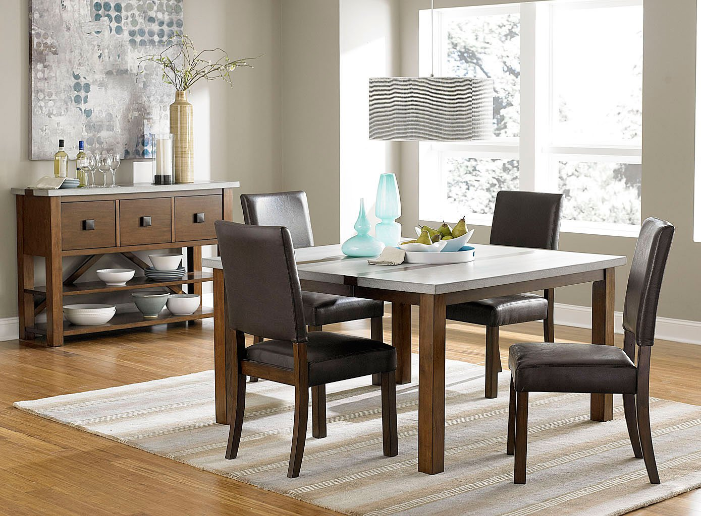 Cascade Dining Room Set W Upholstered Chairs Progressive Furniture Furniture Cart