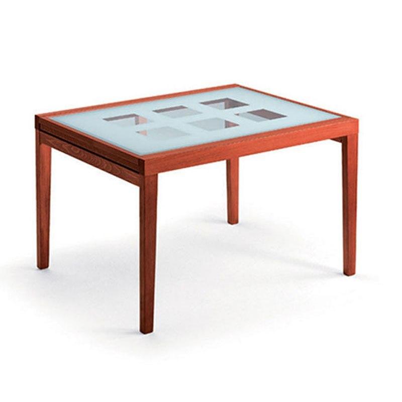 Poker Rectangular Glass Table (Cherry) ESF Furniture ...