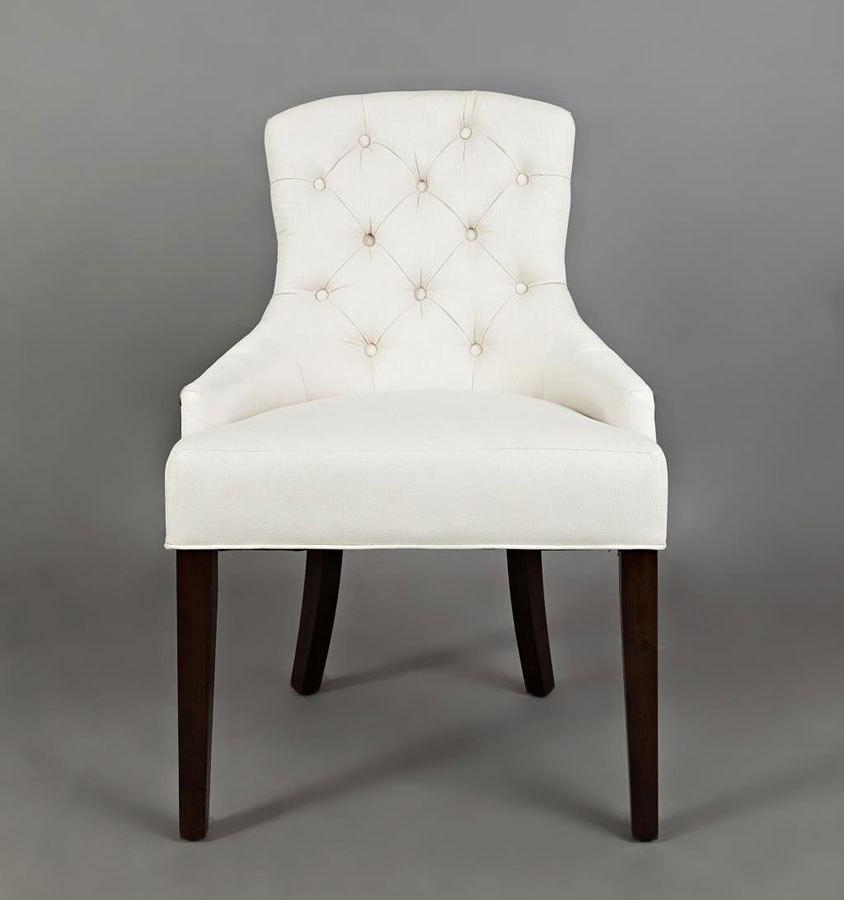 Pierce Accent Chair Ivory Jofran Furniture Furniture Cart