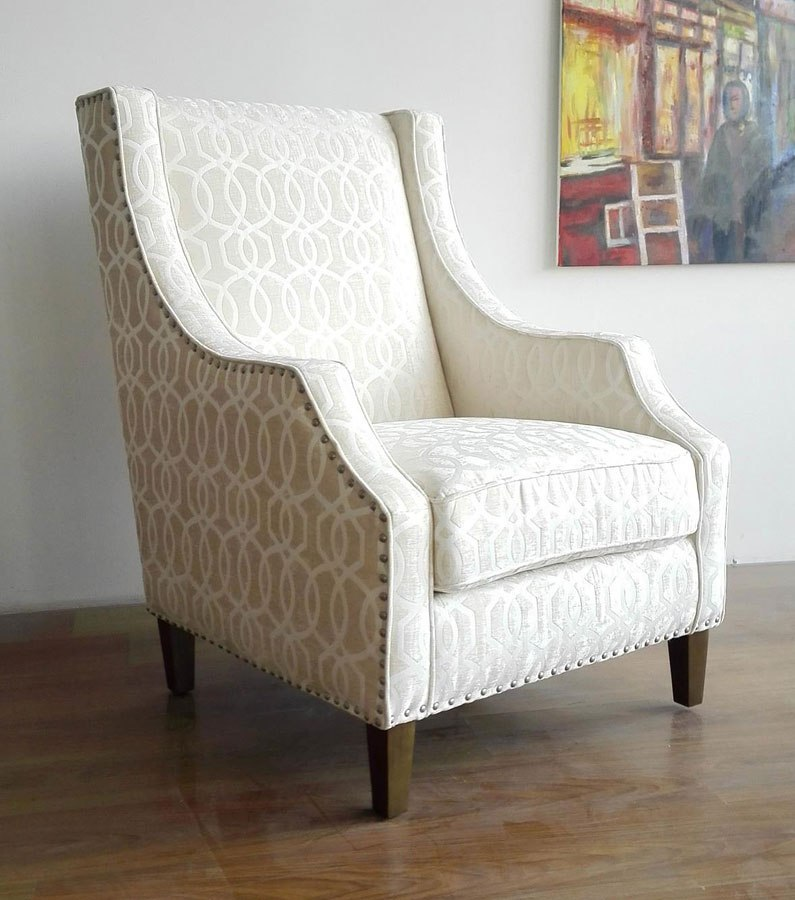 Quinn Accent Chair (Ivory)