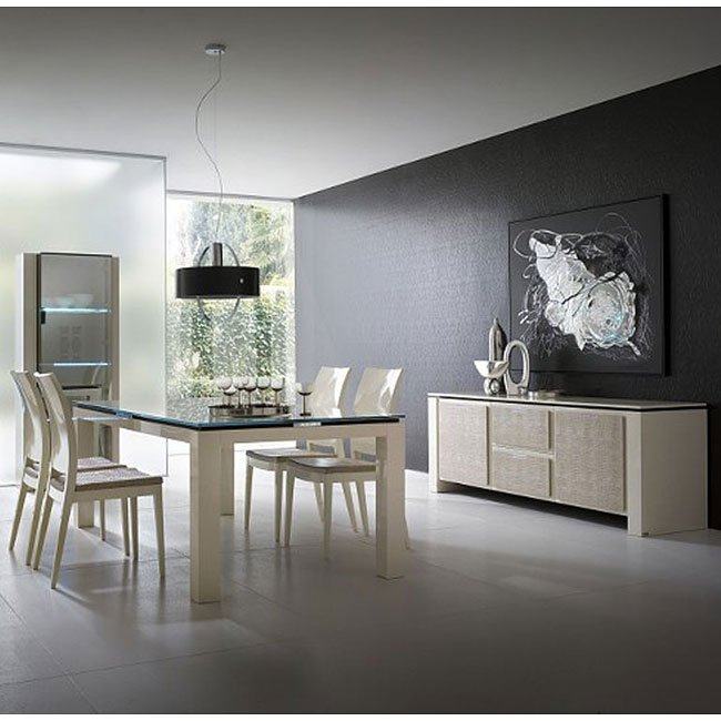 Diamond Dining Room Set (Ivory)