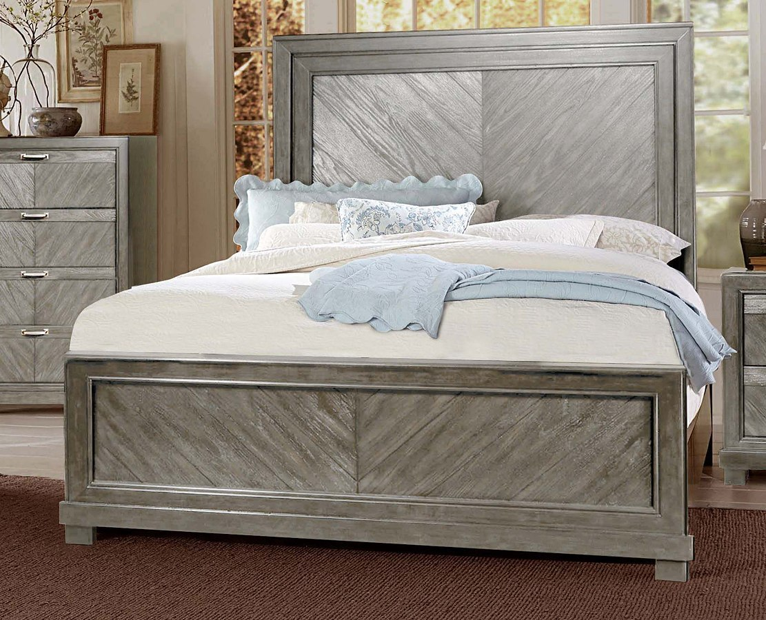 Montana Panel Bedroom Set Grey Steve Silver Furniture Furniture Cart