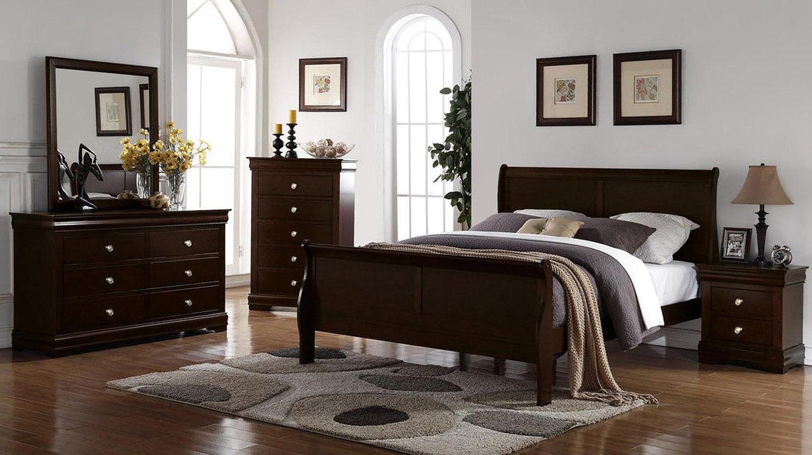 Orleans Sleigh Bedroom Set Merlot Steve Silver Furniture Furniture Cart