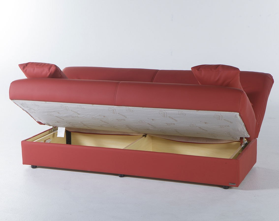 Regata Click Clack Sofa Bed Escudo Red