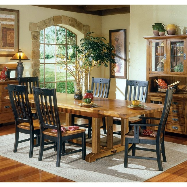 Dining Room Set For 2: Rustic Mission Dining Room Set W/ 2 Chair Choices Intercon