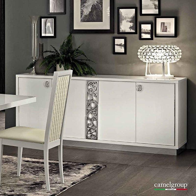 Roma 4 Door Buffet White ESF Furniture