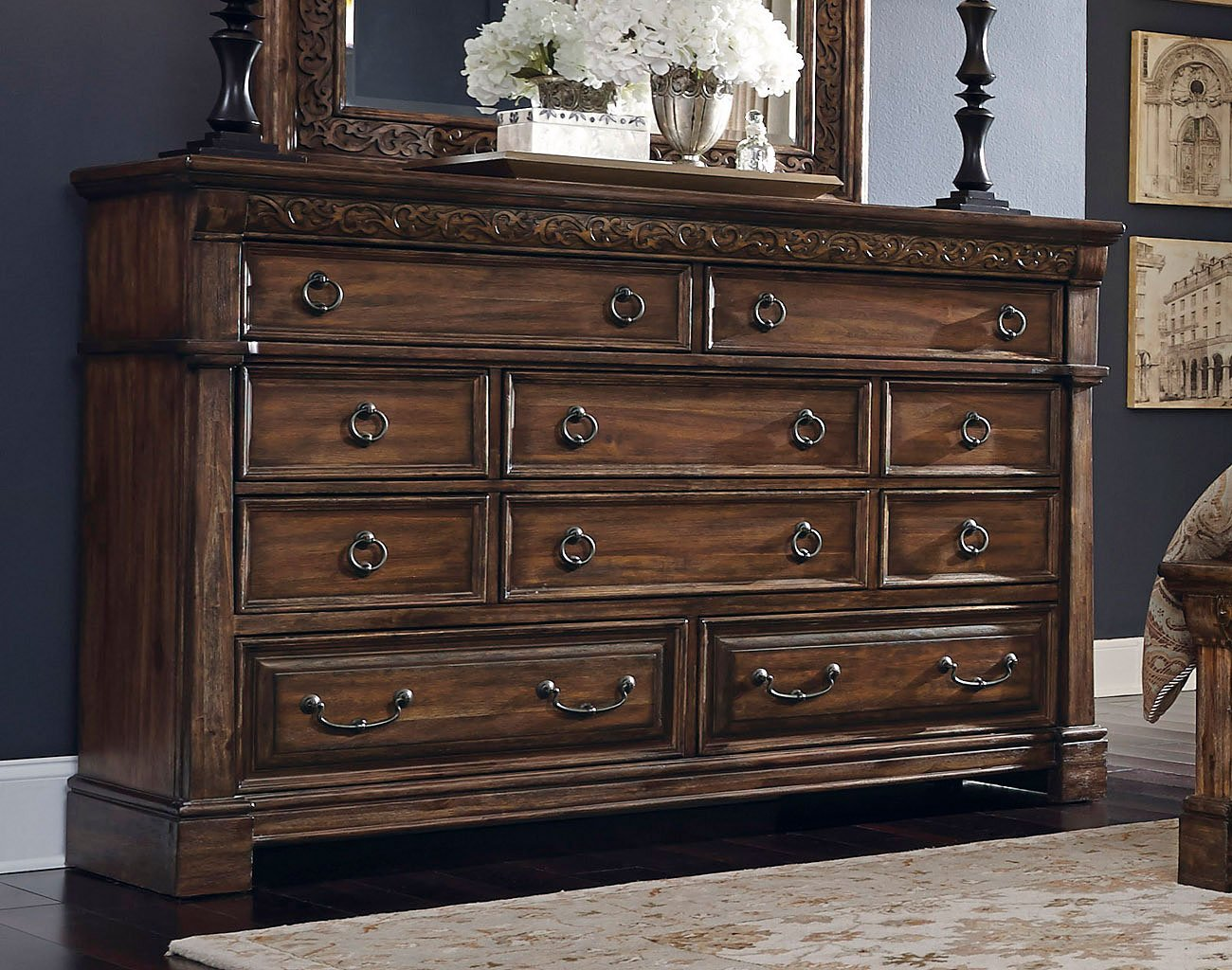 Barcelona Sleigh Bedroom Set Samuel Lawrence Furniture