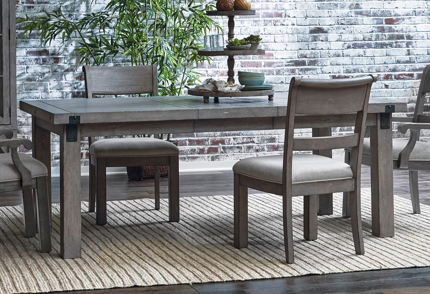 Prospect Hill Dining Room Set W Upholstered Chairs Samuel