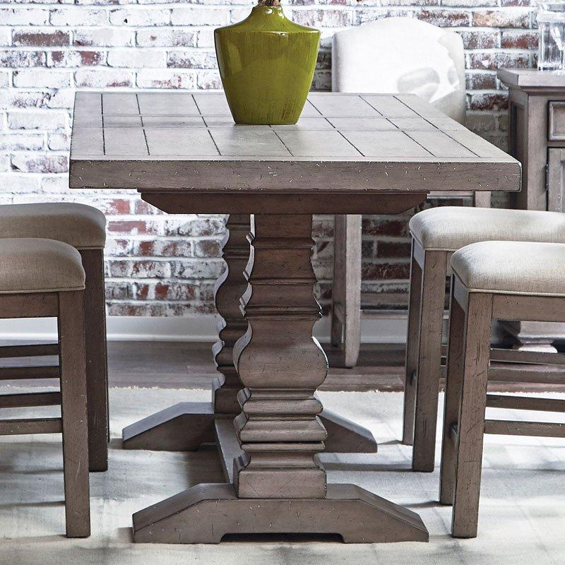 Prospect Hill Trestle Counter Dining Set W Upholstered