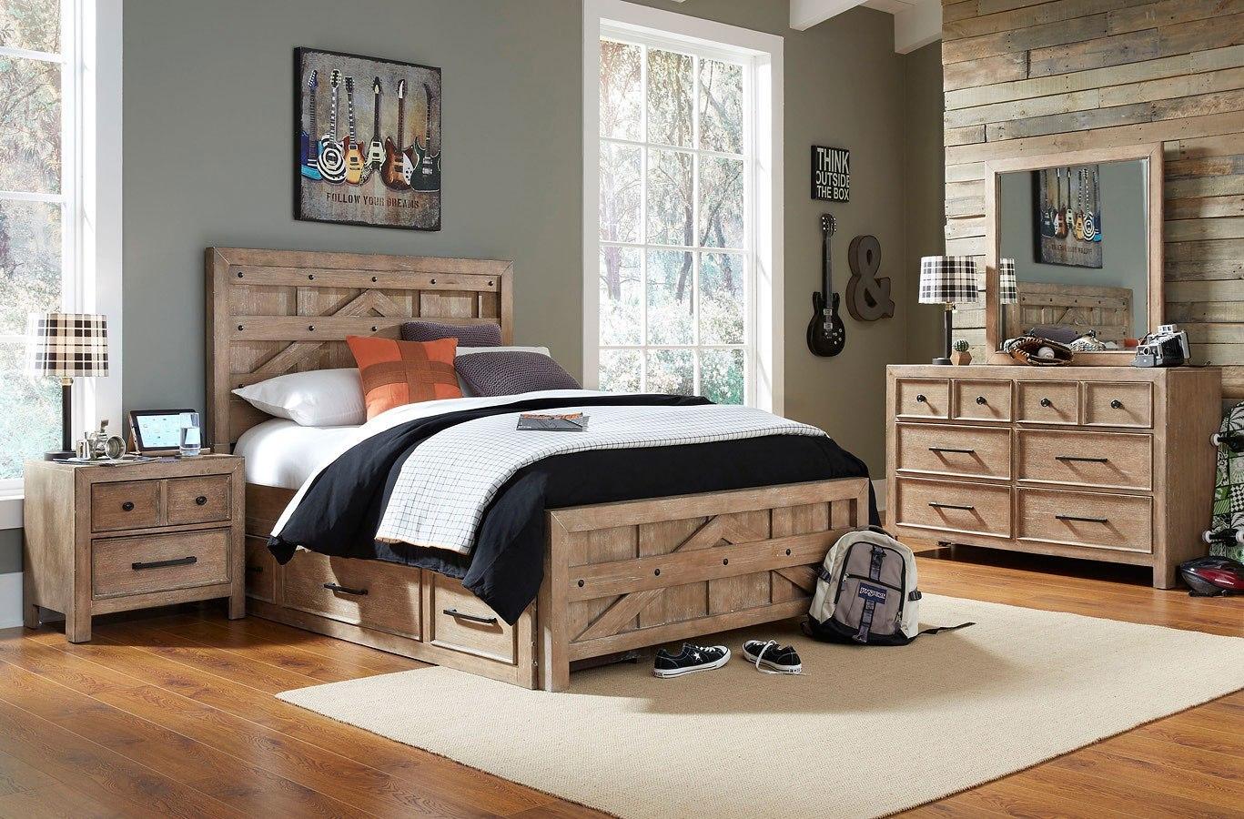 Austin Pallet Panel Bedroom Set