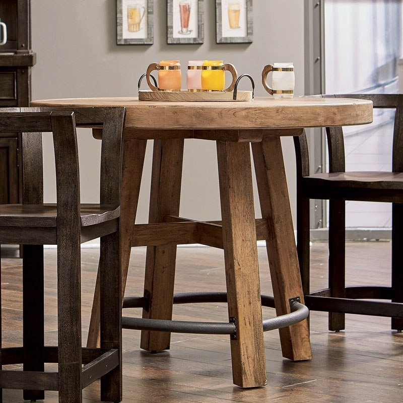 Furniture City Brewing Blonde Round Gathering Table