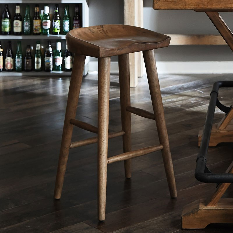 Furniture City Brewing Blonde Hops Saddle Seat Bar Stool