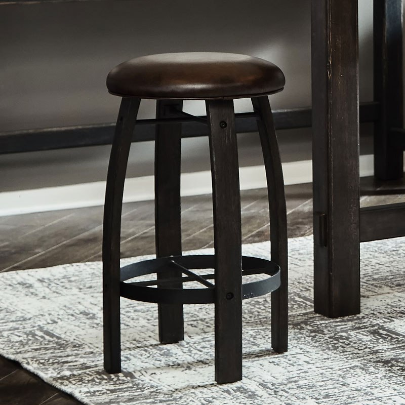 Furniture City Brewing Stout Whiskey Barrel Bar Stool