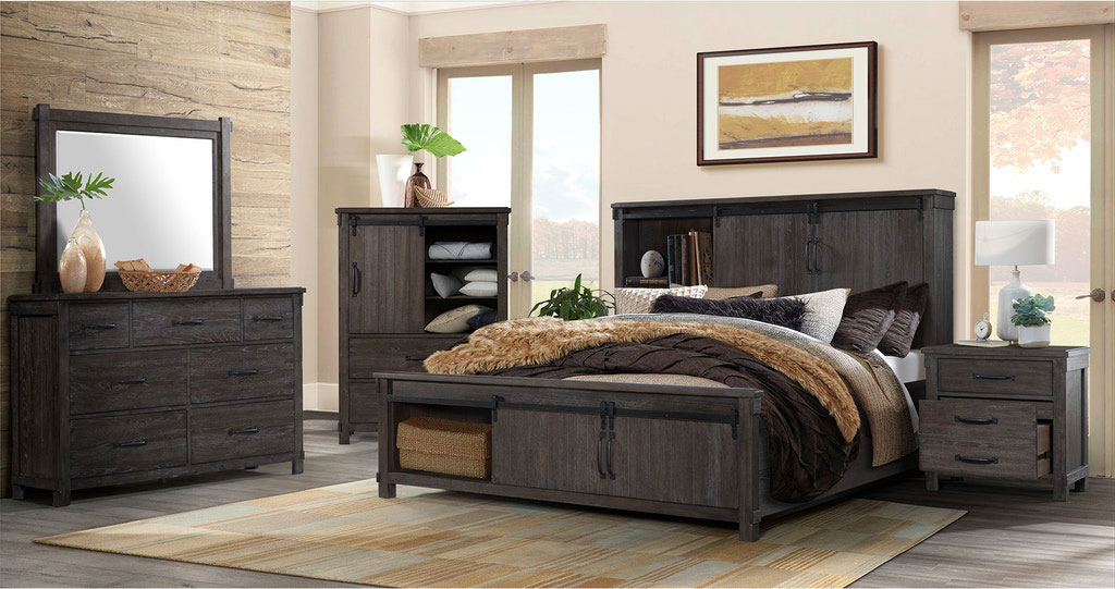 Scott Dark Storage Bedroom Set
