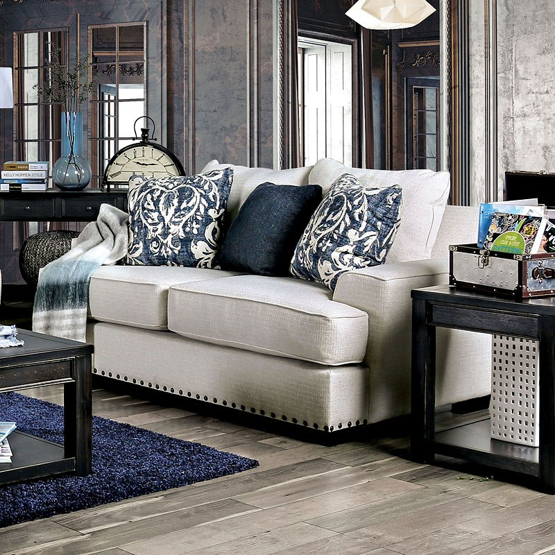 Germaine Living Room Set (Floral Pillows) Furniture Of