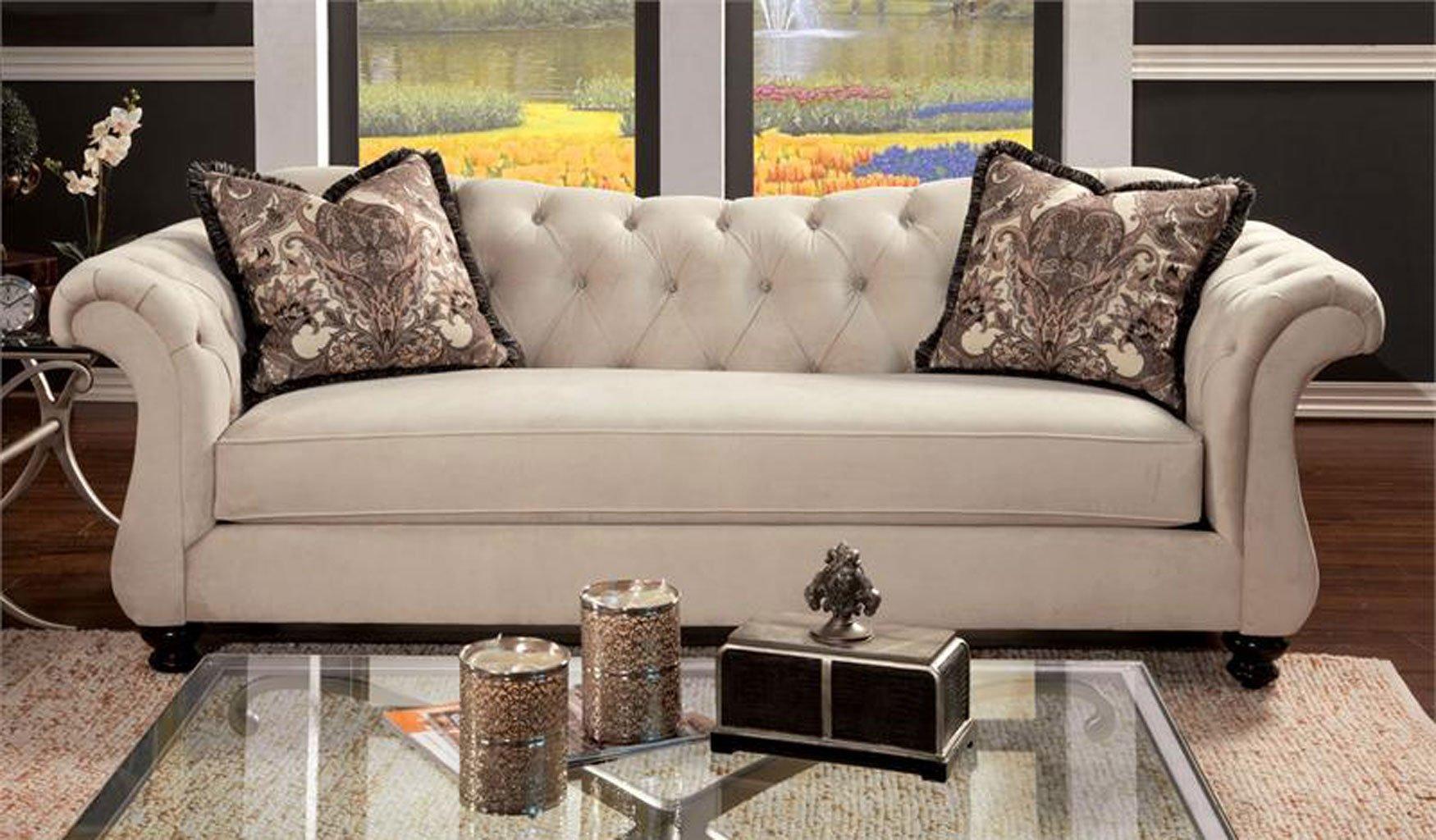 Antoinette Living Room Set Beige Furniture Of America 1